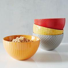 Textured Bowls   west elm
