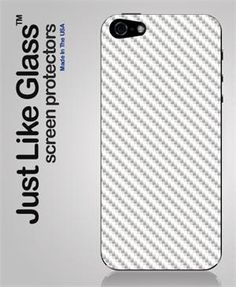 Just like Glass® Screen Protector (iPhone 5 White Carbon Fiber Back)
