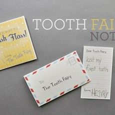 diy free printable tooth fairy notes so cute for when my kids start to loose their teeth