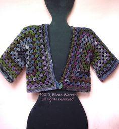 Granny cardigan / Vest van twee granny squares by evanstra, via Flickr
