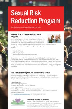 Help spread the word about Sexual Risk Reduction Program. Please share! :)