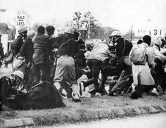 Alabama state troopers attacking civil rights demonstrators on a Selma-to-Montgomery walk – March 7, 1965
