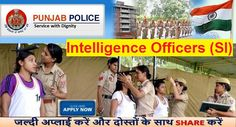 Recruitment of 112 Intelligence Officers in Punjab Police