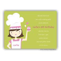 Little Chef Party Invitation