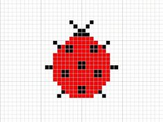 Knitting Charts: Ladybug Knitting Chart Pattern