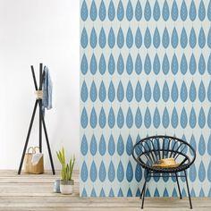 Papier peint intissé feuilles bleues Botanic (4 lés) Roomblush