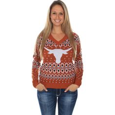 Women's Texas Longhorns Sweater by Tipsy Elves