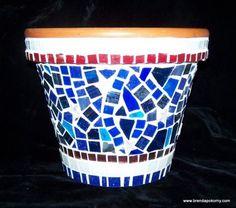 Fireworks Mosaic Flower Pot by brendapokorny on Etsy, $52.00