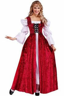 Medieval Lady Lace Up Gown Women's Costume | Wholesale Renaissance Halloween Costumes for Women