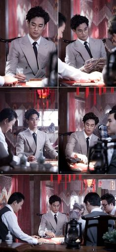 Kim Soo Hyun shows off a new wavy hairdo in a gambling scene for 'You Who Came From the Stars' | allkpop