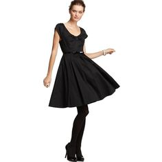 Pre-owned Kate Spade Sewn Patent Belt Dress ($157) ❤ liked on Polyvore featuring dresses, black, black cocktail dresses, black dress, preowned dresses, kate spade dresses and black bow dress