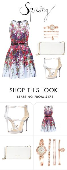 """Spring dress"" by izzymynizzle ❤ liked on Polyvore featuring Giuseppe Zanotti, Ted Baker, Trina Turk, Anne Klein, ootd, SpringStyle and springfashion"