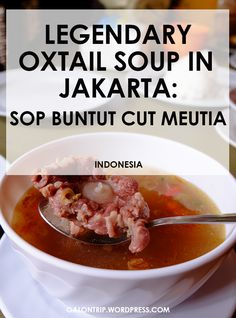 Most delicious oxtail soup in Jakarta, must try!! Oxtail Meat, Oxtail Soup, Salted Caramel Fudge, Salted Caramels, South African Recipes, Food Stall, Oreo Cake, Russian Recipes, Pie Plate