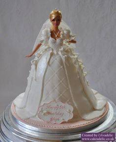 Cakes - Doll Cake Tutorial - Weddbook Saw this and thought of Brenda she could do it easy