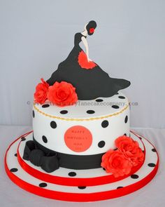 Flamenco dancer cake