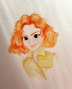Watercolor Bianca sketchbook painting