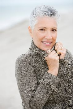 gray womens buzzcut | Very Short Hairstyles for Older Women... I will luv it when my hair is this white! :o)