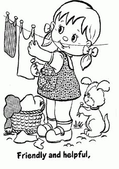 Girl Scout Coloring Sheets | Daisy Girl Scout Coloring Pages For Kids. Print and Color the Pictures