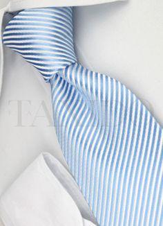 Dárková sada - kravata, světle modrá se vzorem