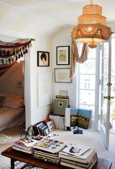 alcove with bed. Studio possibilities