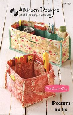 Pockets to Go Organizer Pattern Atkinson Designs - Fat Quarter Shop