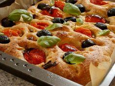 Dobrou chuť: Focaccia Mozzarella, Vegetable Pizza, Waffles, Baking, Vegetables, Breakfast, Flat Bread, Food, Breads