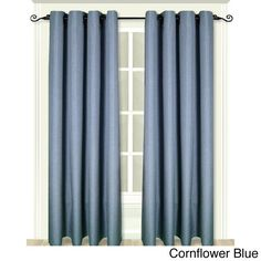 Ricardo Glasgow Grommet Curtain Panel (63 Cornflower Blue), Size 55 x 63 (Polyester, Solid)