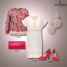 """Casual chic 2015 dress with pink pumps. Anne-Sophie SMARTSHOPPING offers a feminine ready-to-wear """"Casual Chic"""" collection for a year-round feminine look."""