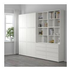 EKET Schrankkombination/Füße - weiß - IKEA