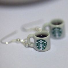Kawaii Miniature Food Earrings Starbucks by fingerfooddelight, $10.00