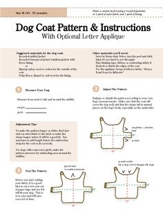 patterns for dog clothes | How To Make Dog Clothes Patterns.