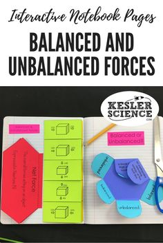 Identify if various scenarios represent balanced or unbalanced forces in a foldable practice activity. Define and describe balanced forces, unbalanced forces, and net force on an accordion foldable worksheet. Turn science notebooks into a fun interactive activity, and hands-on learning experience for your upper elementary or middle school students! Grades 4th 5th 6th 7th 8th 9th 10th