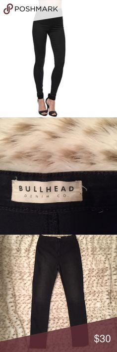 Bullhead Uber High Rise Skinniest Black Jeans Bullhead denim co. Black uber high rise skinniest jeans! Size 11 inseam is 30 inches! Worn once. Perfect condition! Love the high rise look! So fab! From PAC Sun Bullhead Jeans Skinny