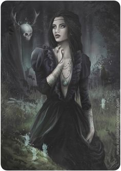 Witch by Nicojam on DeviantArt Dark Gothic Art, Gothic Artwork, Gothic Fantasy Art, Fantasy Kunst, Fantasy Girl, Fantasy Artwork, Dark Artwork, Fantasy Princess, Fantasy Women
