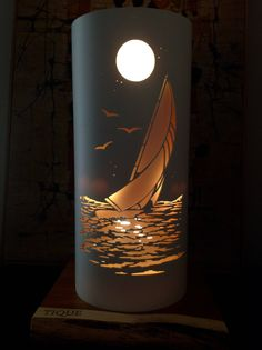Sailing yacht mood light by TIQUELIGHTS on Etsy