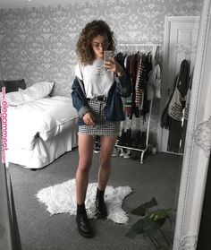 outfit 1 2 or Trend Trendy Outfits Clothes Style Grunge Fashion, 90s Fashion, Korean Fashion, Fashion Outfits, Fashion Vintage, Style Fashion, Edgy Outfits, Fall Outfits, Summer Outfits