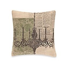 image of Downton Abbey® Silhouettes Chandelier Square Throw Pillow
