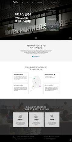Naver Partner Square Website Layout, Web Layout, Menu Design, App Design, Ppt Template Design, Beautiful Website Design, Presentation Layout, Hotel Website, Web Design Services