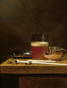 Still-Life with a Mug of Beer - Jan Jansz. van de Velde, 1649 - Oil on canvas - Private collection