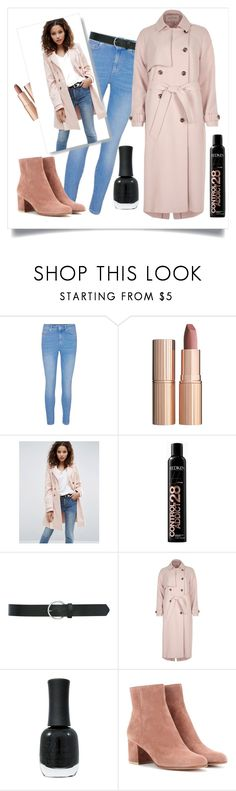"""""""Windy Day"""" by xidecx ❤ liked on Polyvore featuring Charlotte Tilbury, ASOS, Redken, M&Co, River Island, Charlotte Russe, Gianvito Rossi, Fall, autumn and coat"""