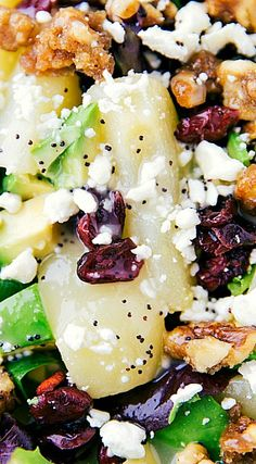 Candied Walnut and Pear Salad with a Lemon Poppyseed Dressing Pear Recipes, Side Recipes, Salad Recipes, Healthy Recipes, Jelly Recipes, Pear Walnut Salad, Pear Salad, Side Salad, Summer Salads