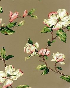 322372-Eijffinger-Lavender-Dream-brown-green-pink-white-floral-flowers-wallpaper