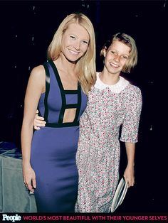 Gwyneth Paltrow in 2014 and 1985 . . . Photo Illustration by Linzi Silverman; Photos Provided by Getty