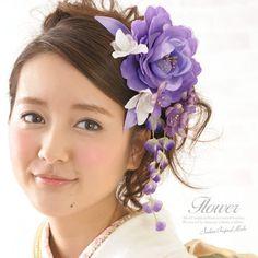 New Kanzashi Maiko Kimono Sakura Purple Hair Accessories Hair Ornaments 2 Set | eBay