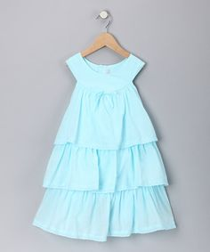 Take a look at this Aqua Tiered Dress - Infant, Toddler & Girls  by Fantaisie Kids on #zulily today!