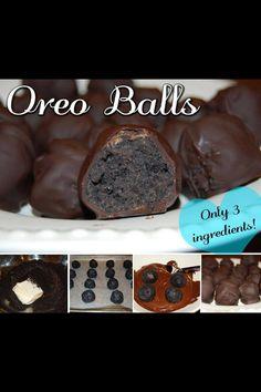 Oreo Balls - 3 ingredients! going to use vegan cream cheese and vegan chocolate.  oreos are already vegan ;-)