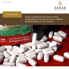 #FitnessFriday Calcium supplements shouldn't be the only thing strengthening your body. Exercise and a non-sedentary lifestyle will keep you fit, not just calcium. www.ashar.in #AsharGroup #RealEstate #Thane #Housing #Apartments #Residences