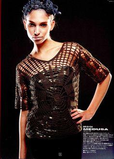 Crochetemoda: Blusa Marrom de Crochet