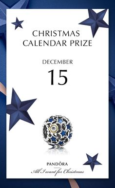 A beautiful mix of midnight blue enamel, sparkling CZ stone, 14kt gold and sterling silver - be sure to try your chances 15th of December. #PANDORAchristmascontest #PANDORAgiftidea