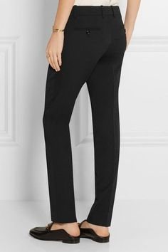 Gucci - Stretch Wool And Silk-blend Tapered Pants - Black - IT34